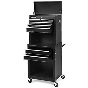 Nightcore 6 Drawer Rolling Tool Chest, 3 in 1 Tool Cabinet