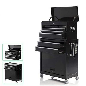 Large 8-Drawer Rolling Tool Chest -Metal Tool Box Organizer