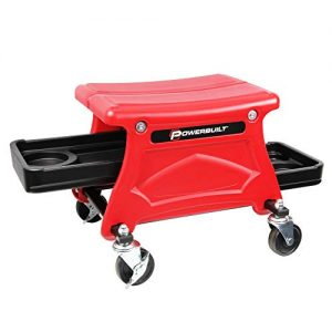 Powerbuilt Roller Seat with 2 Slide-Out Tool and Beverage Trays