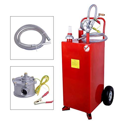 Nurxiovo Pro 30 Gallon Gas Caddy Hand Siphon Fuel