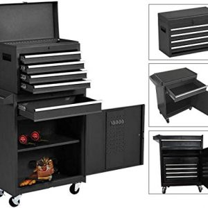 5-Drawer Rolling Tool Chest, Keyed Locking System