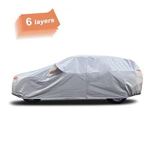 SEAZEN Car Cover 6 Layers, Waterproof SUV Car Cover
