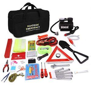 Adakiit Car Emergency Kit, Multifunctional Roadside Assistance