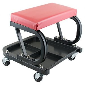 Mechanic Stool with Wheels Tool Tray Roller Sea