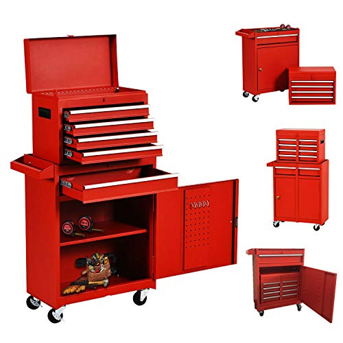 Eco Home Tool Chest with 5-Drawer Rolling Tool Chest