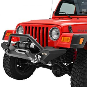 KML Front Bumper with Winch Plate Black