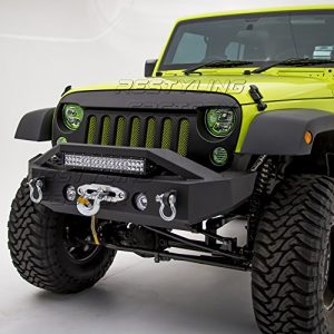 Restyling Factory - Black Textured Rock Crawler Front Bumper