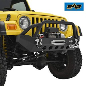 EAG Front Bumper with D-rings and Winch Plate