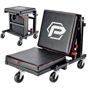 Powerbuilt 2-in-1 Rolling Creeper Seat Converts