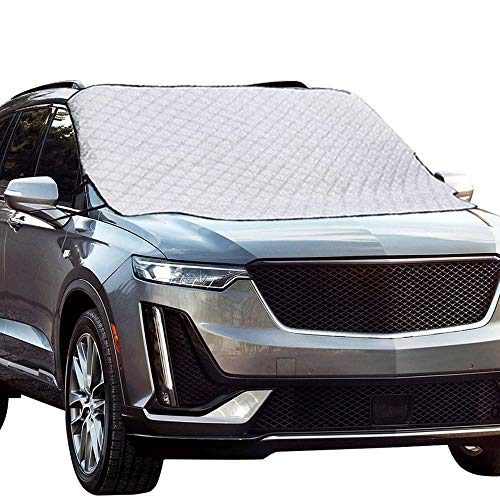 Windshield Cover for Ice and Snow Frost Full Protection 4 Layers Thick