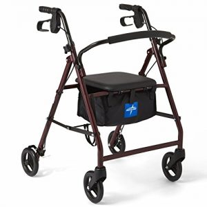 Rolling Walker with 6-inch Wheels Supports up to 350 lbs