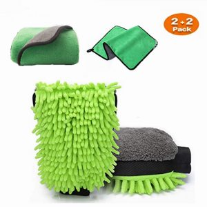 Large Size Car Wash Mitt-Premium Chenille Microfiber Wash Glove