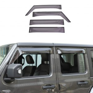 RT-TCZ Side Window Deflectors Wind Rain Shade Visor Guard