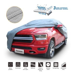 Truck Pickup Cover Breathable Waterproof Windproof with Antenna Patch