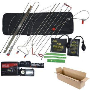 Emergency Car Repair Tool Kit   18 Piece Vehicle Door Unlocking Kit