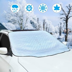 Eclawen Car Windshield Snow Cover, Sun Shade Ice Cover