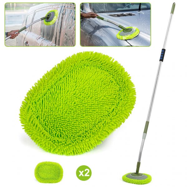 66'' Car Wash Mop with Long Handle, Chenille Microfiber