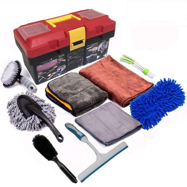 Snow Eagle-L 10Pcs Car Cleaning Tools Kit